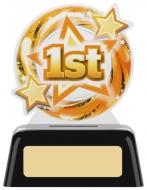 1st Acrylic Award 4 inches 10cm : New 2020