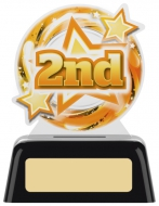 2nd Acrylic Award 4 inches 10cm : New 2020