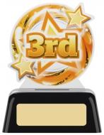 3rd Acrylic Award 4 inches 10cm : New 2020