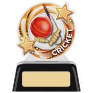 Round Cricket Trophy 4 inches 10cm : New 2020
