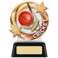 Round Cricket Trophy 4.75 inches 11.5cm : New 2020