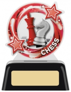Chess Round Acrylic Award 4 inches 10cm : New 2020