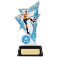 Female Football Acrylic Award 6.25 inches 16cm : New 2020