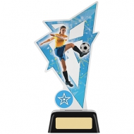 Female Football Acrylic Award 7.5 inches 19cm : New 2020