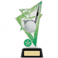 Golf Acrylic Award 7.5 inches 19cm : New 2020