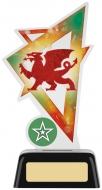 Welsh Dragon Acrylic Award 6.25 inches 16cm : New 2020