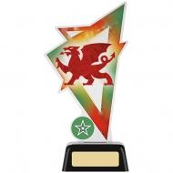 Welsh Dragon Acrylic Award 7.5 inches 19cm : New 2020