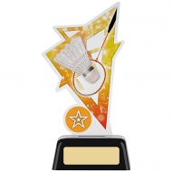 Badminton Acrylic Award 6.25 inches 16cm : New 2020