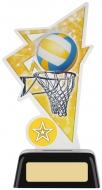 Netball Acrylic Award 6.25 inches 16cm : New 2020