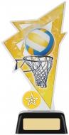 Netball Acrylic Award 7.5 inches 19cm : New 2020