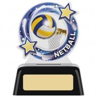 Netball Round Acrylic Award 4 inches 10cm : New 2020