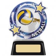 Netball Round Acrylic Award 4.75 inches 11.5cm : New 2020
