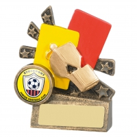 Xblast Football Referee Cards And Whistle Trophy Award
