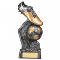 Hex Football Trophy 18.5cm : New 2019