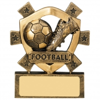 Football mini shield 3 1/8 Trophy Award