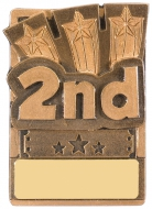 Mini Magnetic 2nd Place Trophy Award 82mm : New 2019