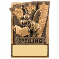 Mini Magnetic Spelling Trophy Award 82mm : New 2019