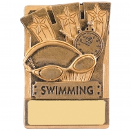 Mini Magnetic Swimming Trophy Award 82mm : New 2019