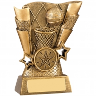 Basketball Scene Trophy Award