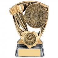 Dartboard And Darts Trophy Award