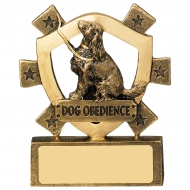 Dog Obedience Mini Shield Trophy Award