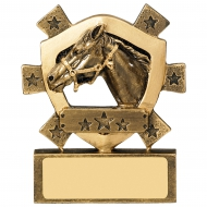 Equestrian Mini Shield Trophy Award