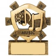 Music Mini Shield Trophy Award