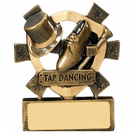 Tap Dancing Mini Shield Trophy Award
