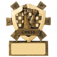 Chess Trophy Mini Shield Award