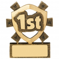 1st Place Mini Shield Trophy Award