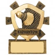 Badminton Mini Shield Trophy Award