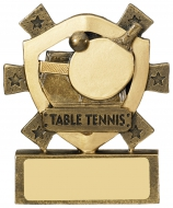Table Tennis Mini Shield Trophy Award