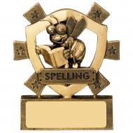 Spelling Mini Shield Trophy Award