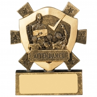 Attendance Trophy Award Mini Shield