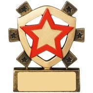 Red Star Mini Shield Trophy Award