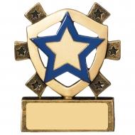 Blue Star Mini Shield Trophy Award