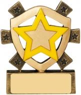 Yellow Star Mini Shield Trophy Award