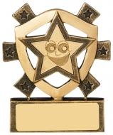 Smiley Star Mini Shield Trophy Award