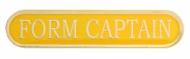 Yellow Form Captain Enamel Bar Badge : New 2020