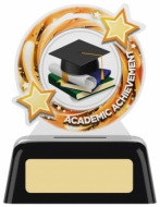 Academic Round Acrylic Award 4 inches 10cm : New 2020
